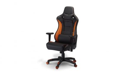 Gaming stol  Deluxe  pu orange-sort