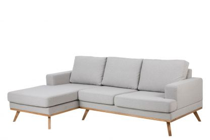 Norwich sofa m. chaise lysegrå